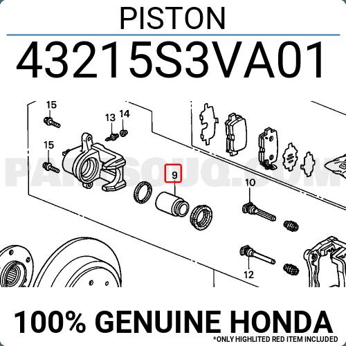 MB857613 Rear 0476-NA4R Genuine Febest Cylinder Piston