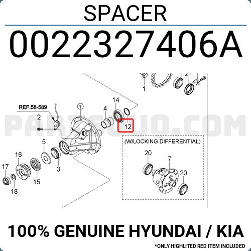 0022327406a Hyundai    Kia Spacer  Price  2 13   Weight  0 02kg