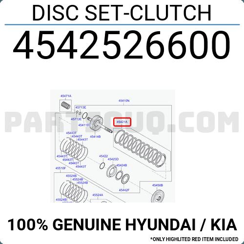 Genuine Hyundai 45425-26000 Clutch Disc Set