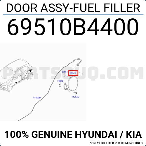 KIA Door Assy-Fuel FILLE