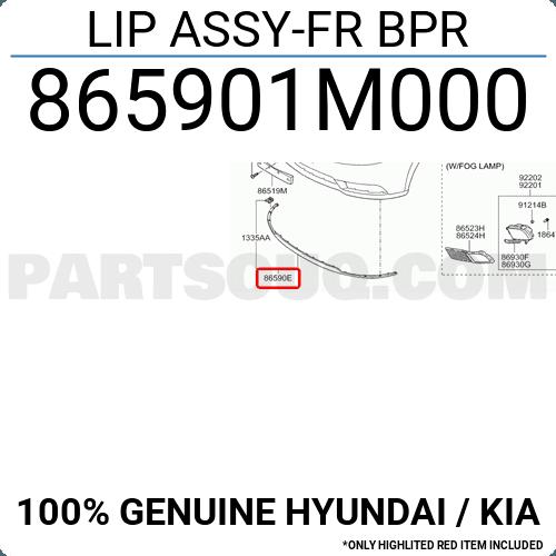 KIA Lip Assy-FR BPR