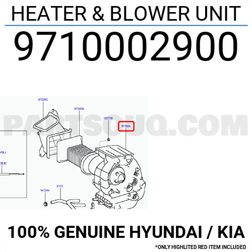9710002900 Hyundai    Kia Heater  U0026 Blower Unit  Price  320
