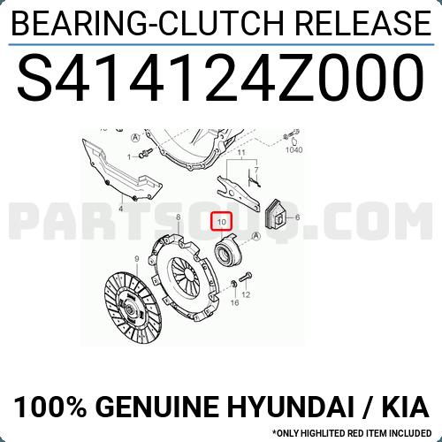 S414124z000 Hyundai    Kia Bearing-clutch Release  Price  13 63   Weight  1 14kg