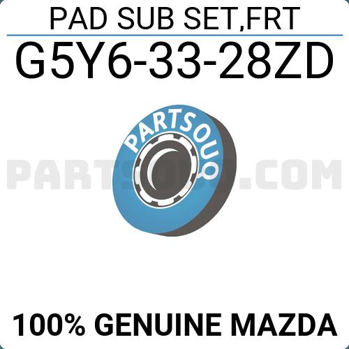 Front G5Y6-33-28ZD Disc Brake 0501-GFF Genuine Febest Pad Kit
