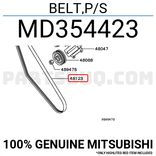 SUZUKI MOTOR CO 9514165D00 Replacement Belt