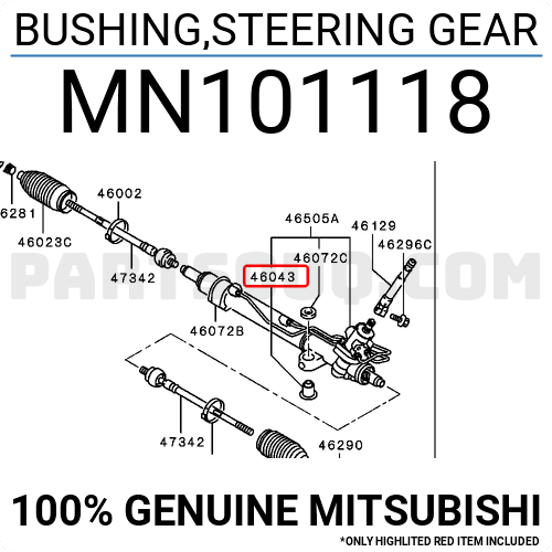 Mn101118 Arm Bushing For Steering Gear For Mitsubishi Mn101118