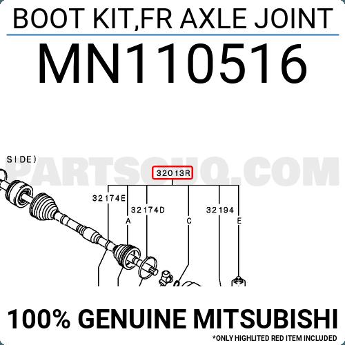 FEBEST 0415-NA4T Inner CV Joint Boot Kit