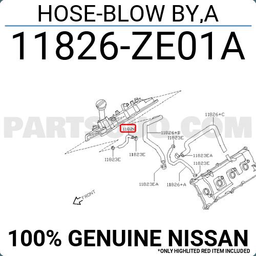 New Genuine Infiniti Hose-Blow By,A 11826ZE01C OEM