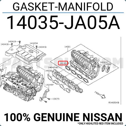 Genuine Nissan Manifold Gasket 14035-JA05A
