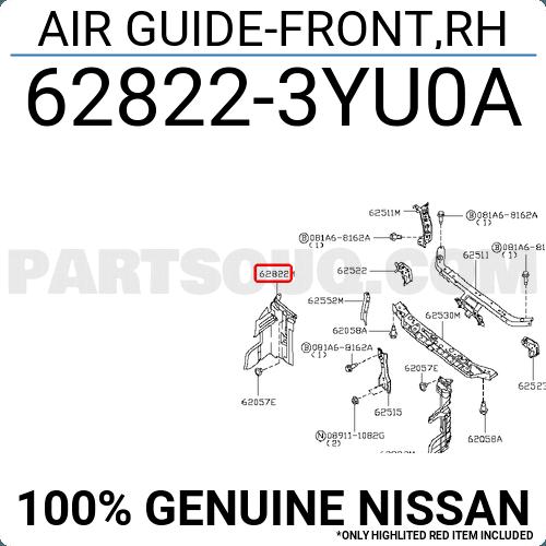 Genuine Nissan Air Guide 62822-3YU0A