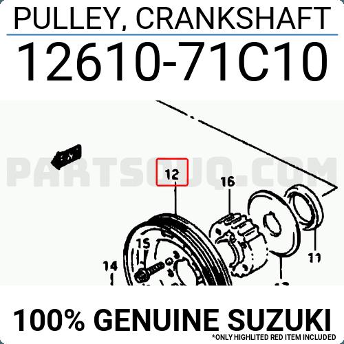 12610-71C11 SZDS-GVSQ Genuine Febest Crankshaft Pulley Engine 12610-61G00