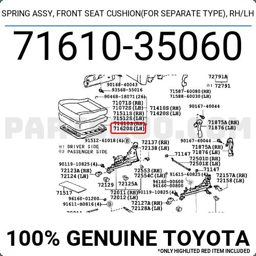 Genuine Hyundai 88160-4R111-YDY Seat Cushion Covering Front