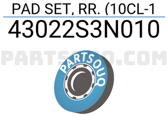 43022S3N010 Q BRAKE PAD REAR HO ACCORD IV V 16V 1990 1993 1993