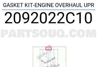 Genuine Hyundai 20920-22C10 Engine Overhaul Gasket Kit