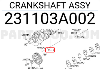 Hk11733 Kia Hyundai 2,5 diesel cigüeñal polea 231234a700