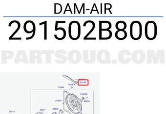 Genuine Hyundai 29150-2B800 Air Dam