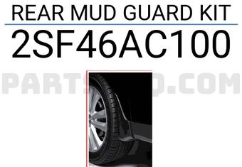 HYUNDAI 2SF46-AC100 Rear MUD Guard KIT