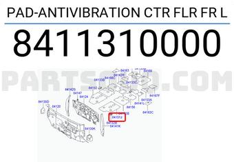 Rear Genuine Hyundai 84160-3J000 Anti-Vibration Floor Pad