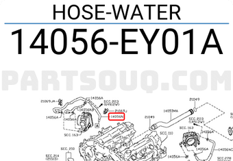 Nissan 14056-EY01A Hose-Water