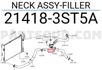 New Genuine OEM Part 21418-3ST5A Nissan Neck assy-filler 214183ST5A