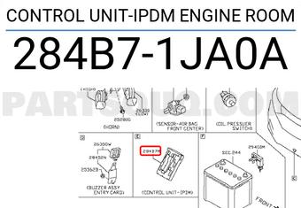 284B71JA0A Nissan CONTROL UNIT-IPDM ENGINE ROOM Price: 165 09