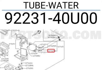 Genuine Nissan Tube 92231-40U00
