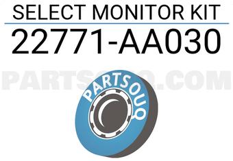 22771AA030 Subaru SELECT MONITOR KIT Price: 5158 06$, Weight