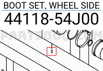 4411860G24 CV Joint Universal Boot For Suzuki