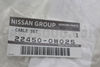 Nissan 224500W025 CABLE SET-HIGH TENSION