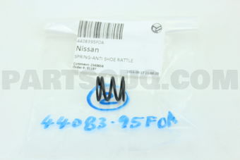 Nissan 4408395F0A SPRING-ANTI SHOE RATTLE