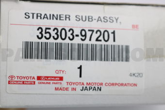 Toyota 3530397201 STRAINER SUB-ASSY, OIL