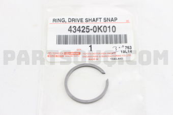 Toyota 434250K010 RING, SHAFT SNAP (FOR FRONT DRIVE INNER SHAFT INNER), RH/LH