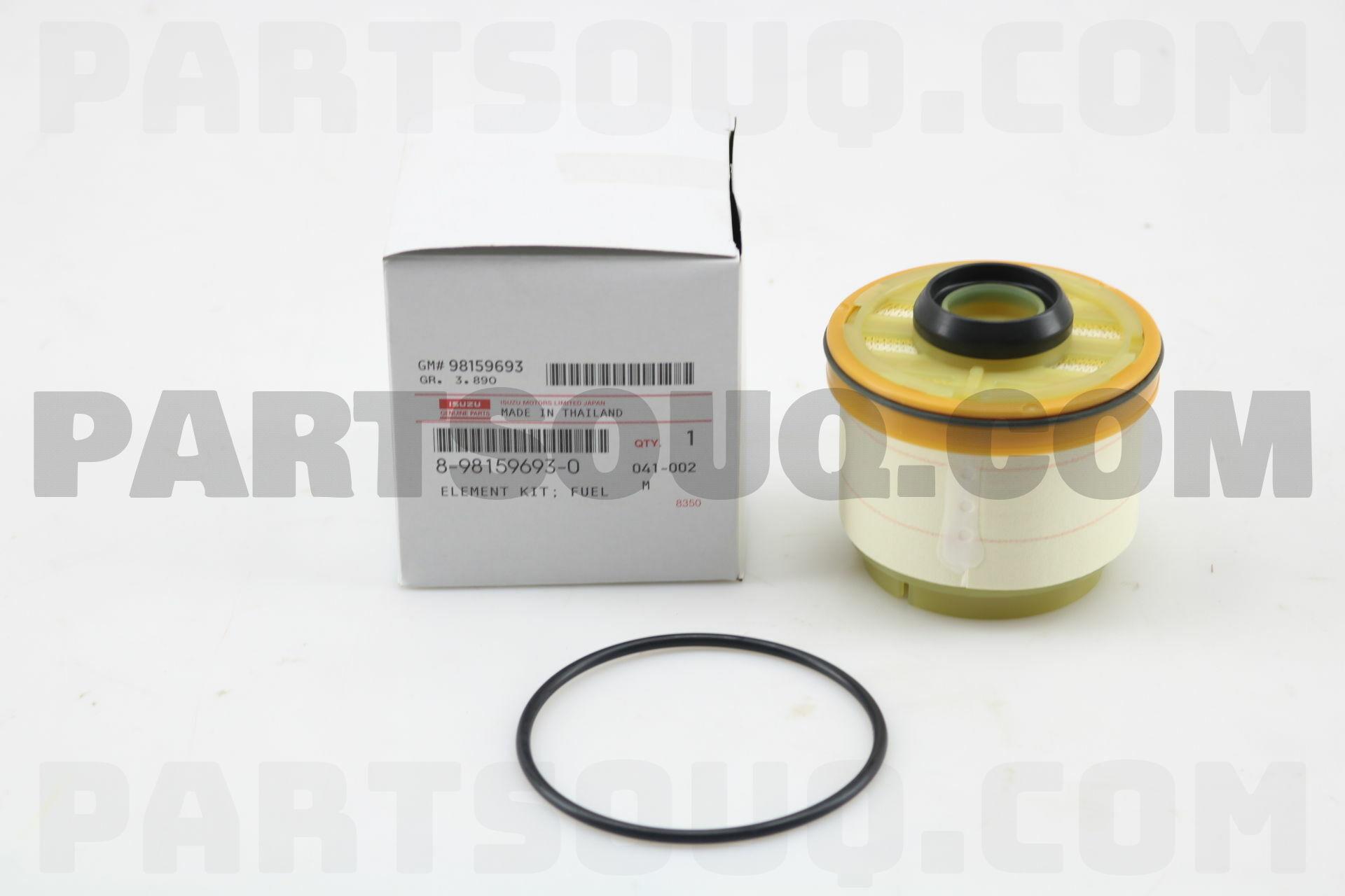 8981596930 Isuzu Element Kit Fuel Filter Price 2685 Weight Filters
