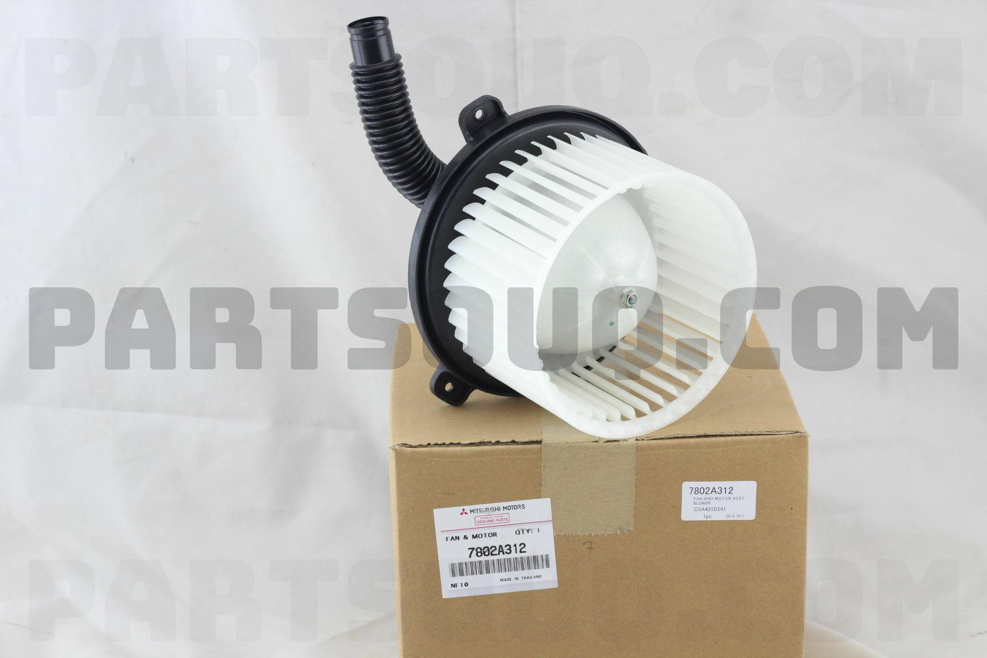 Mitsubishi 7802a312 Fan Motor Kit Heat