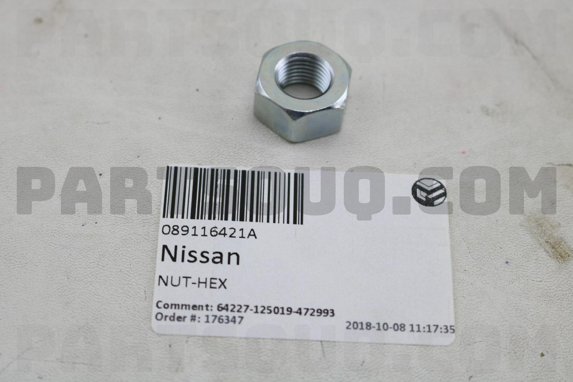 089116421A Nissan NUT-HEX Price: 0 9$, Weight: 0 02kg - PartSouq