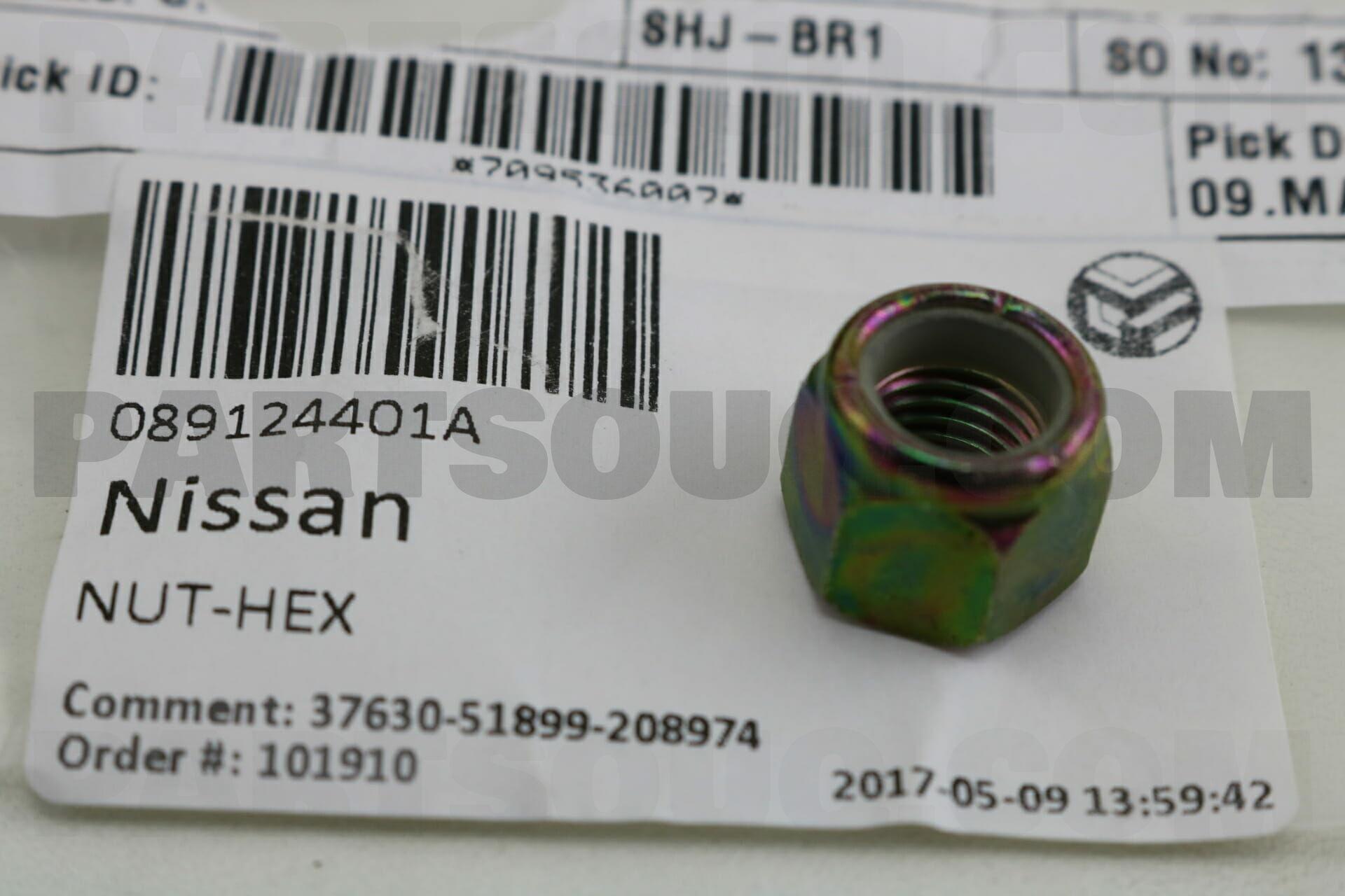 089124401A Nissan NUT-HEX Price: 0 46$, Weight: 0 02kg