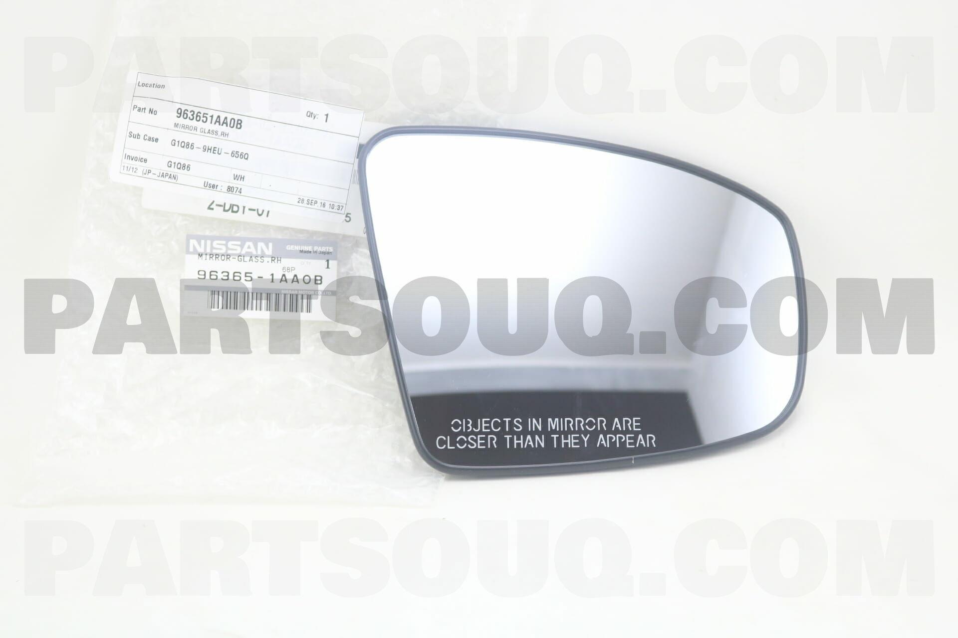 Genuine Nissan Mirror Glass 96365-1AA0B
