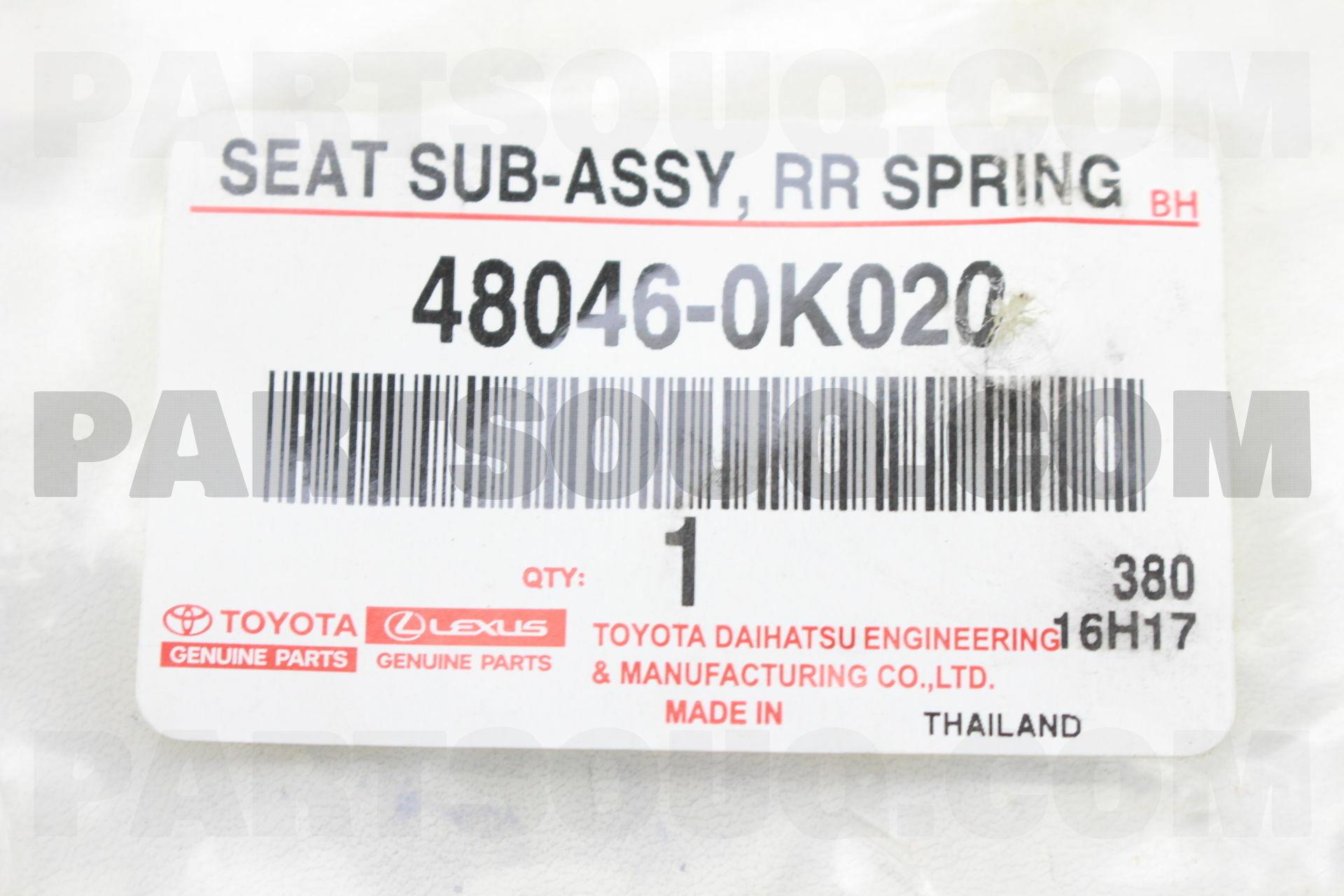 TOYOTA 48046-35170 Spring U-Bolt Seat Sub Assembly