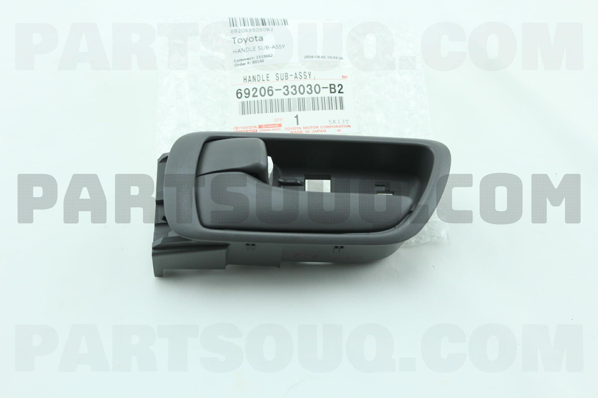 Toyota 6920633030B2 HANDLE SUB ASSY, FRONT DOOR INSIDE, LH