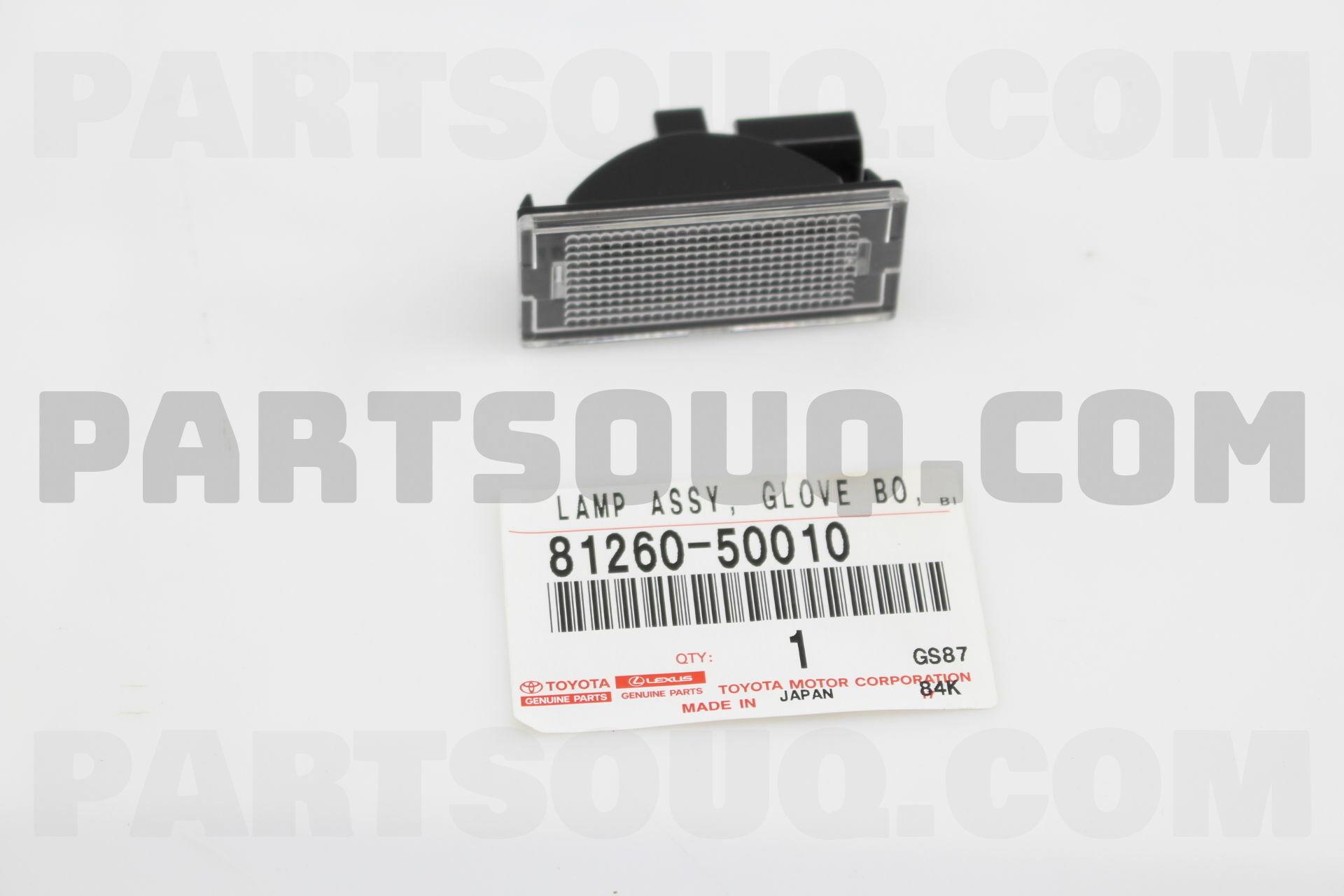 GLOVE BOX Toyota Part 81260-50010 LAMP ASSY